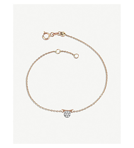 THE ALKEMISTRY Kismet by Milka 14ct rose-gold and diamond Libra bracelet (Rose+gold
