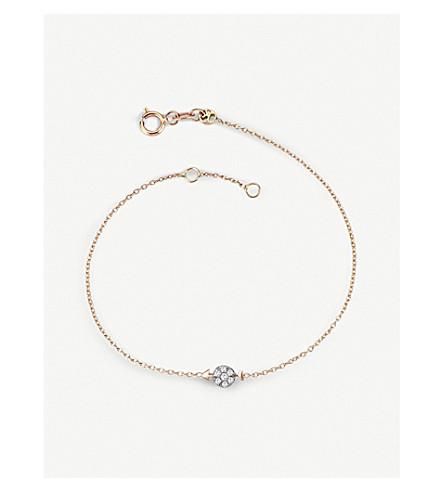 THE ALKEMISTRY Kismet by Milka 14ct rose-gold and diamond Sagitarius bracelet (Rose+gold