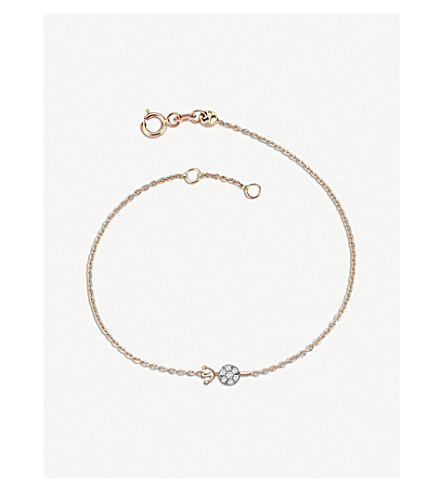 THE ALKEMISTRY Kismet by Milka 14ct rose-gold and diamond Aquarius bracelet (Rose+gold