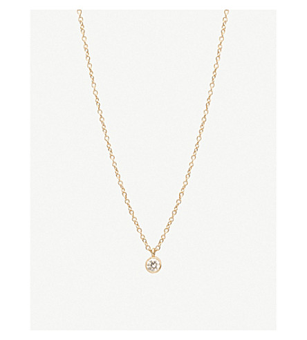 THE ALKEMISTRY Zoë Chicco 14ct yellow-gold and diamond drop choker necklace (Yellow+gold