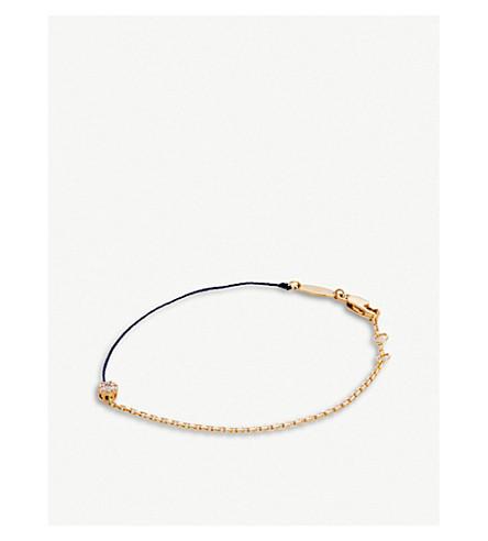 THE ALKEMISTRY Redline Illusion 18ct rose-gold, diamond and silk bracelet (Rose+gold