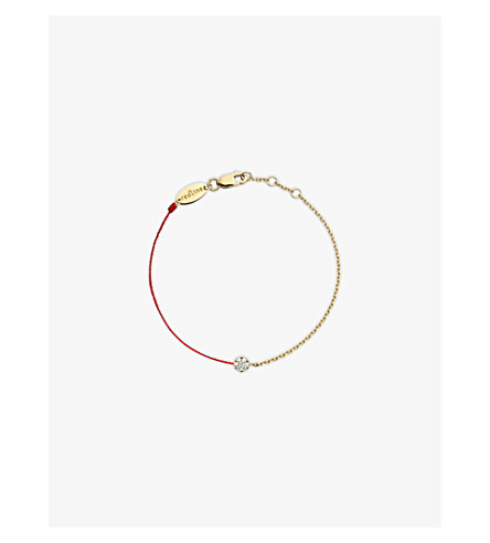 THE ALKEMISTRY Redline 18ct yellow-gold and diamond illusion chain bracelet (Rose+gold