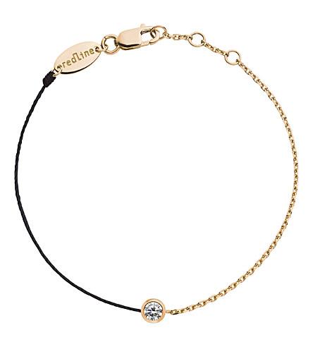 THE ALKEMISTRY Redline 18ct rose-gold and diamond illusion chain bracelet (Rose+gold