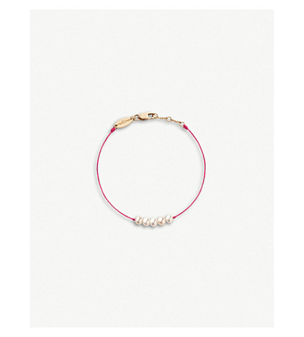 THE ALKEMISTRY Redline Pure 18ct rose-gold and pearl bracelet (Pink