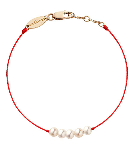 THE ALKEMISTRY Redline 14ct rose gold pearl bracelet (Rose+gold
