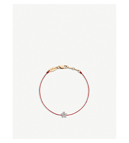 THE ALKEMISTRY Redline Nova flower 18ct rose-gold and diamond bracelet (Rose+gold