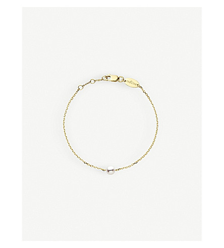 THE ALKEMISTRY Redline Sensuelle Akoya 18ct yellow-gold and pearl bracelet (Yellow+gold