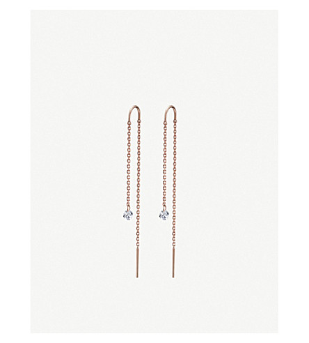 THE ALKEMISTRY Drilled Diamonds 18ct rose-gold and diamond earrings (Rose+gold