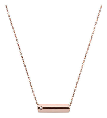 THE ALKEMISTRY The Alkemistry Star Bar 9ct rose gold and diamond necklace (Rose+gold