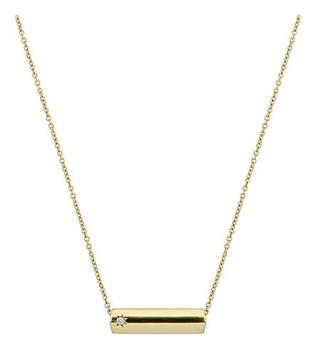 THE ALKEMISTRY The Alkemistry Star Bar 9ct yellow gold and diamond necklace (Yellow+gold