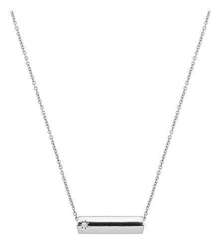 THE ALKEMISTRY The Alkemistry Star Bar 9ct white gold and diamond necklace (White+gold