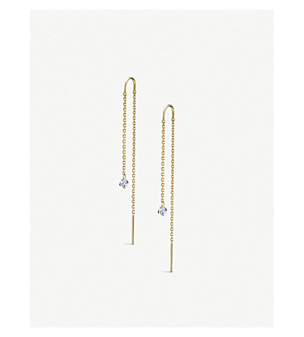THE ALKEMISTRY Drilled Diamonds 18ct yellow-gold and diamond earrings (Yellow+gold