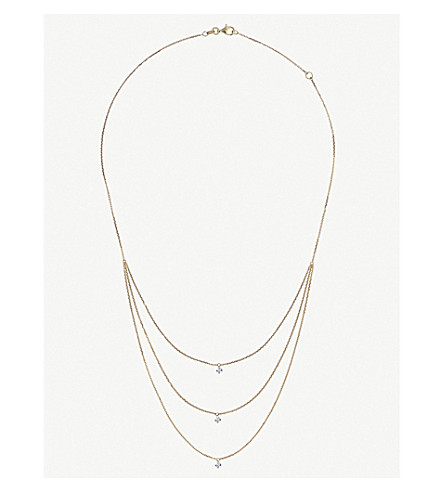 THE ALKEMISTRY Triple Drilled Diamonds 18ct yellow-gold and diamond necklace (Yellow+gold