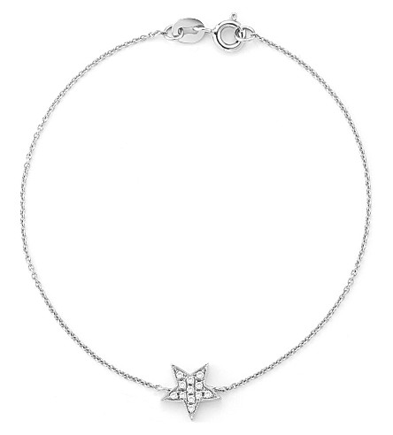 THE ALKEMISTRY Dana Rebecca star 14ct white-gold bracelet (White+gold