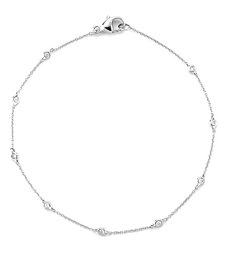 THE ALKEMISTRY Dana Rebecca 14ct white gold multi-diamond chain bracelet (White+gold