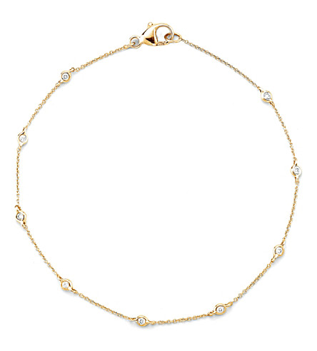 THE ALKEMISTRY Dana Rebecca 14ct yellow gold multi-diamond chain bracelet (Yellow+gold