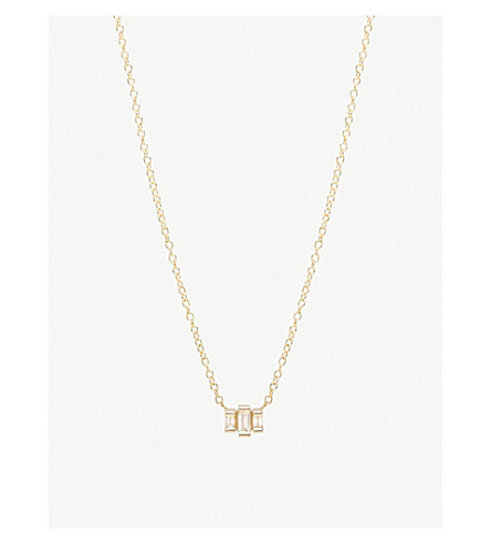 THE ALKEMISTRY Zoë Chicco 14ct yellow-gold and diamond stepped necklace (Yellow+gold