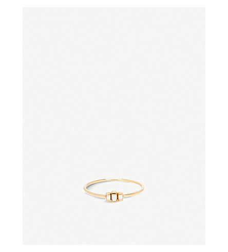 THE ALKEMISTRY Zoë Chicco 14ct yellow-gold and stepped diamond ring (Yellow+gold