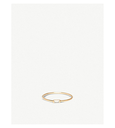 THE ALKEMISTRY Zoë Chicco 14ct yellow-gold and horizontal diamond ring (Yellow+gold