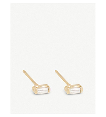 THE ALKEMISTRY Zoë Chicco 14ct yellow-gold and diamond earrings (Yellow+gold