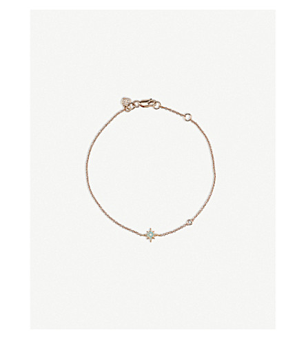 THE ALKEMISTRY Sydney Evan star 14ct rose gold bracelet (Rose+gold