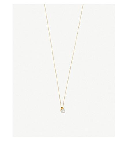 THE ALKEMISTRY RICO by Mizuki 18ct yellow-gold, pearl and diamond necklace (Yellow