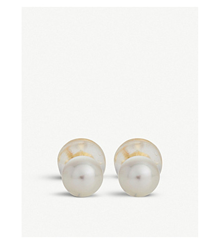 THE ALKEMISTRY RICO by Mizuki 18ct yellow-gold and pearl earrings (Yellow