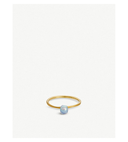 THE ALKEMISTRY RICO by Mizuki 18ct yellow-gold and pearl ring (Yellow