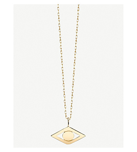 THE ALKEMISTRY Sydney Evan Evil Eye 14ct yellow-gold necklace (Yellow+gold