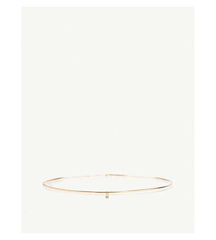 THE ALKEMISTRY Zoë Chicco 14ct yellow-gold and diamond solid choker (Yellow+gold