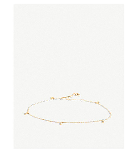 THE ALKEMISTRY Zoë Chicco 14ct yellow-gold and diamond anklet (Yellow+gold