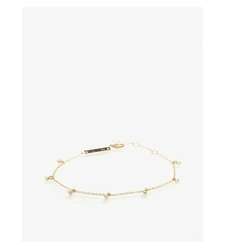 THE ALKEMISTRY Zoë Chicco 14ct yellow-gold and diamond bracelet (Yellow+gold