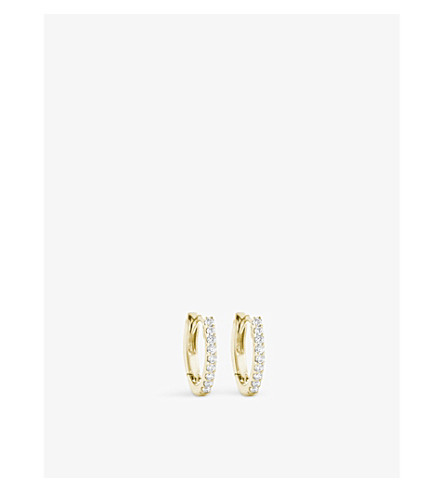 THE ALKEMISTRY Dana Rebecca 14ct yellow gold and diamond earrings (Yellow+gold