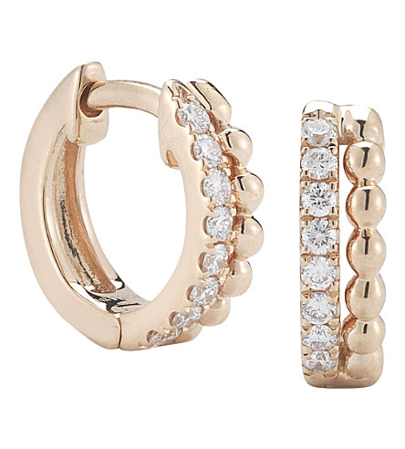 THE ALKEMISTRY Dana Rebecca 14ct rose gold and diamond earrings (Rose+gold