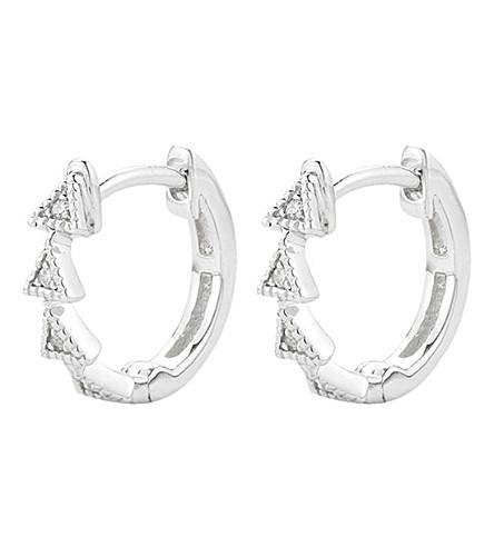 THE ALKEMISTRY Diamond Triangle 14ct white-gold diamond earrings (White+gold