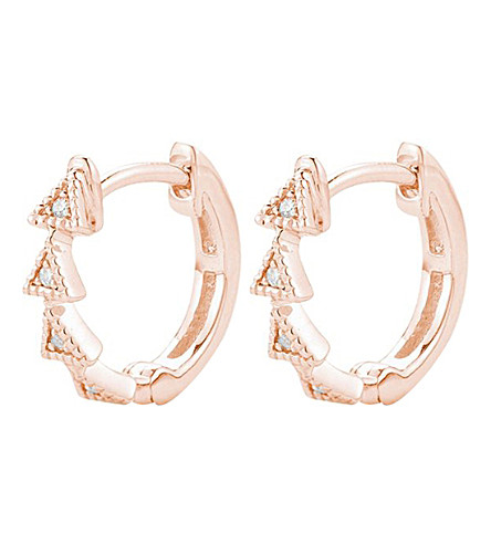 THE ALKEMISTRY Dana Rebecca diamond triangle 14ct rose-gold diamond earrings (Rose+gold