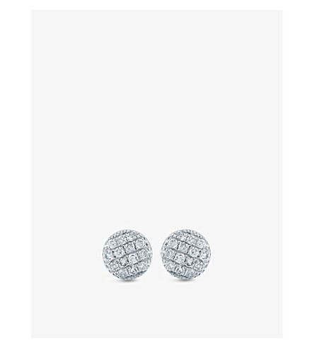THE ALKEMISTRY Dana Rebecca 14ct white gold and diamond disc earrings (White+gold
