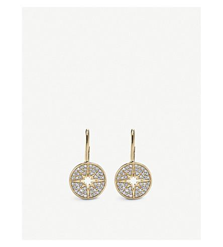 THE ALKEMISTRY Sydney Evan starburst 14ct yellow-gold and diamond earrings (Yellow+gold