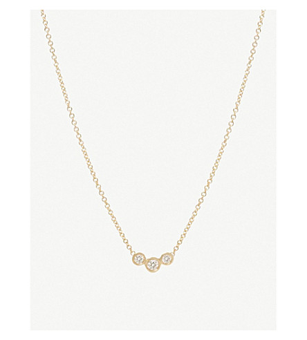 THE ALKEMISTRY Zoë Chicco 14ct yellow-gold and diamond bezel necklace (Yellow+gold