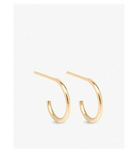 THE ALKEMISTRY Zoë Chicco 14ct yellow-gold small hoop earrings (Yellow+gold