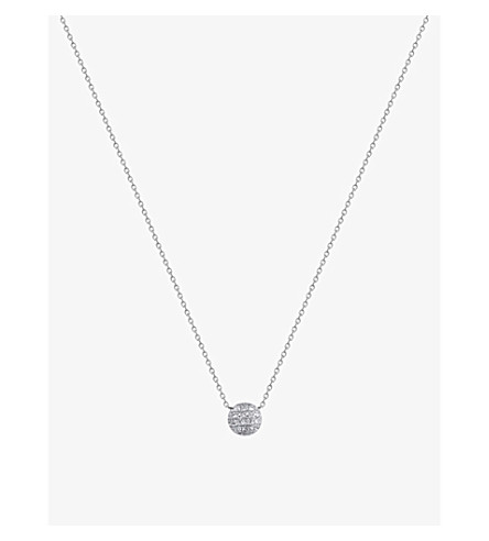 THE ALKEMISTRY Lauren Joy mini 14ct white-gold and diamond necklace (White+gold