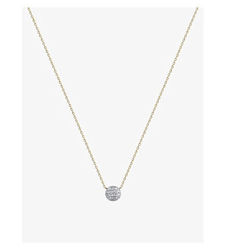 THE ALKEMISTRY Dana Rebecca Lauren Joy mini 14ct yellow-gold and diamond necklace (Yellow+gold