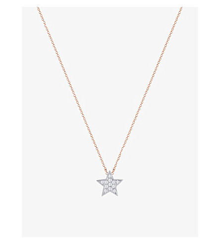 THE ALKEMISTRY Dana Rebecca Julianna Himiko 14ct rose gold and diamond necklace (Rose+gold