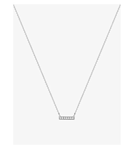 THE ALKEMISTRY Dana Rebecca 14ct white-gold and diamond necklace (White+gold