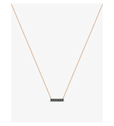 THE ALKEMISTRY Dana Rebecca 14ct rose-gold and black diamond necklace (White+gold