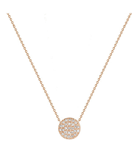 THE ALKEMISTRY Lauren Joy mini 14ct rose-gold and diamond necklace (Rose+gold