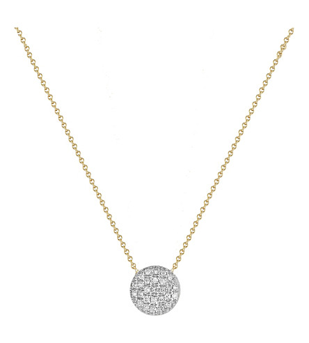 THE ALKEMISTRY Diamond Disc 14ct gold necklace (Yellow+gold