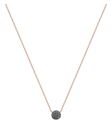 THE ALKEMISTRY Dana Rebecca mini 14ct rose-gold and black diamond necklace (White+gold