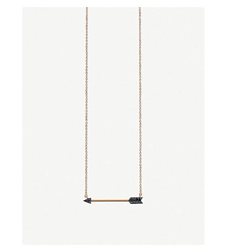 THE ALKEMISTRY Sydney Evan arrow 14ct rose-gold necklace (Rose+gold