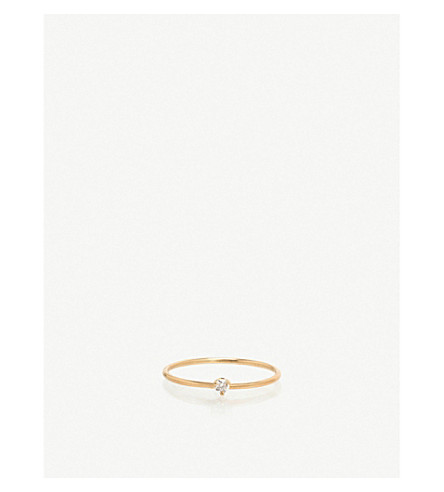 THE ALKEMISTRY Zoë Chicco 14ct yellow-gold and diamond stacking ring (Yellow+gold